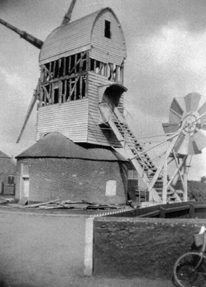 The mill during demolition